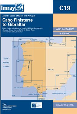 Imray C19 Cabo Finisterre to Gibraltar