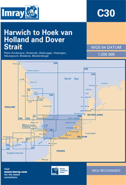 Imray C30 Harwich to Hoek van Holland and Dover Strait