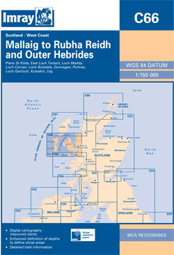 Imray C66 Mallaig to Rudha Reidh and Outer Hebrides