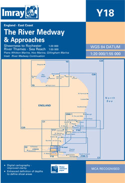 Imray Y18 The River Medway and Approaches