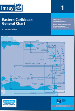 Imray Chart 1 Eastern Caribbean General Chart