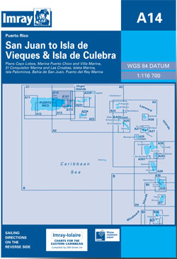 Imray A14 San Juan to Isla de Vieques and Isla de Culebra