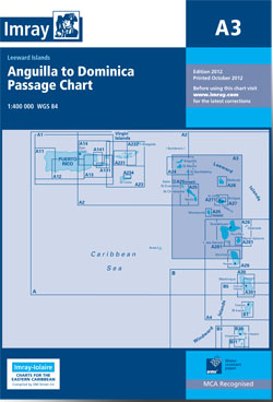 Imray A3 Anguilla to Dominica Passage Chart