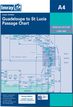 Imray A4 Guadeloupe to St Lucia Passage Chart