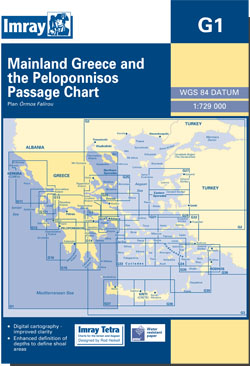 Imray G1 Mainland Greece and the Peloponnisos